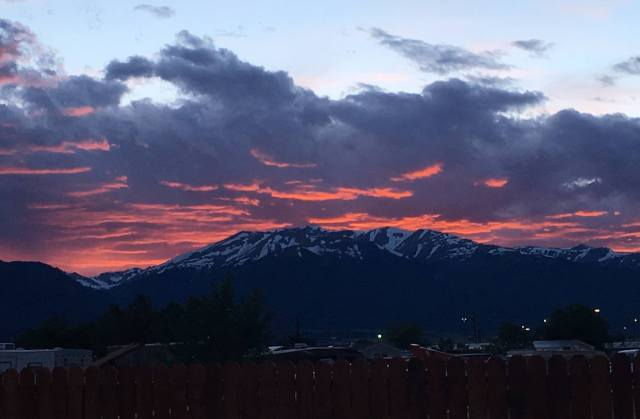 buena vista sunset mountains