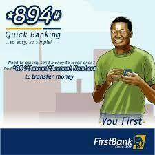 First bank Nigeria ussd code *894#
