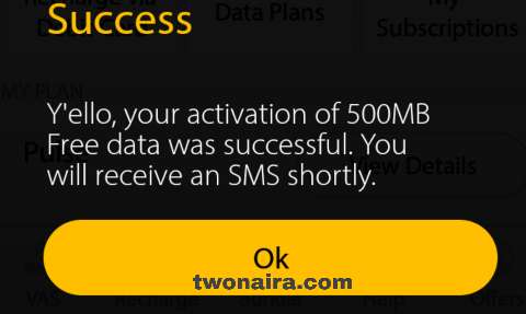 MyMTN app 500mb data