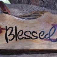 blessed cedar sign