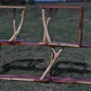 modern rustic, cedar shelf set