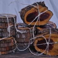handmade cedar coasters
