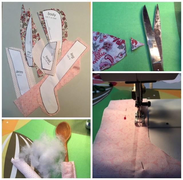 Konijn-maken-collage Wekelijkse inspiratie - Knuffelkonijn
