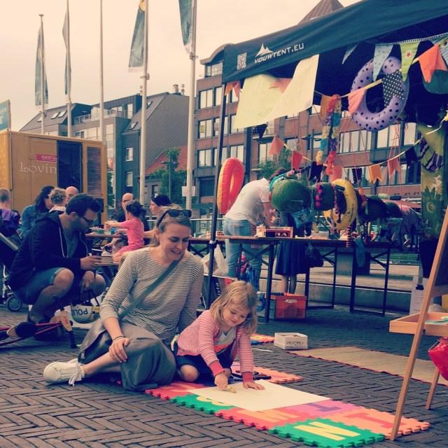 tekenen Food truck festival Kantien Royal