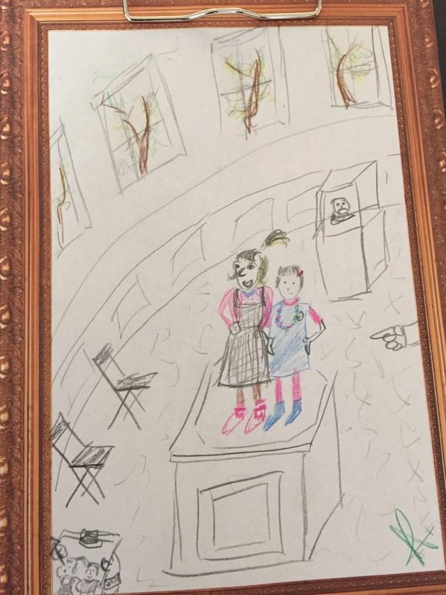 Tekening-Kenny Kunstendag voor Kinderen: Museum voor Schone Kunsten in Gent