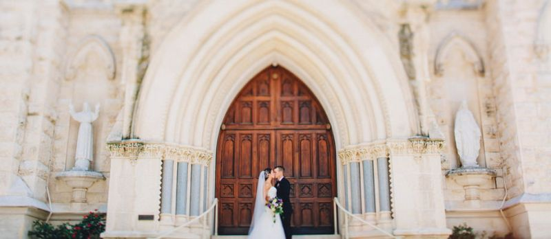 brazos hall wedding St. Mary Cathedral,