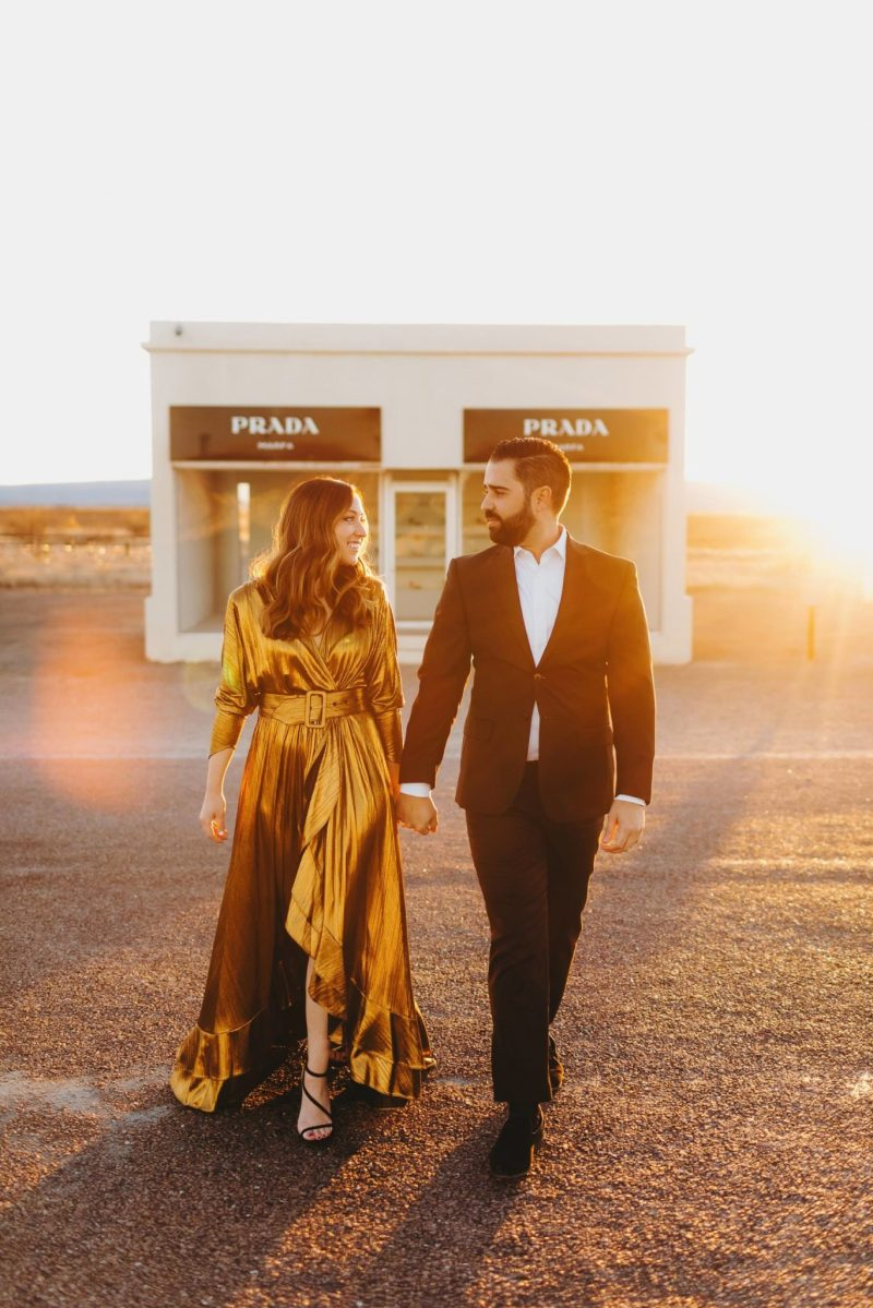 Marfa Wedding Photographer Engagement photos prada marfa chinati foundation concrete blocks-00161