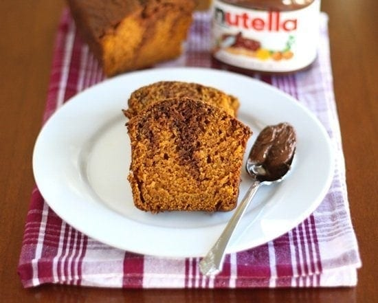 pumpkin Nutella bread