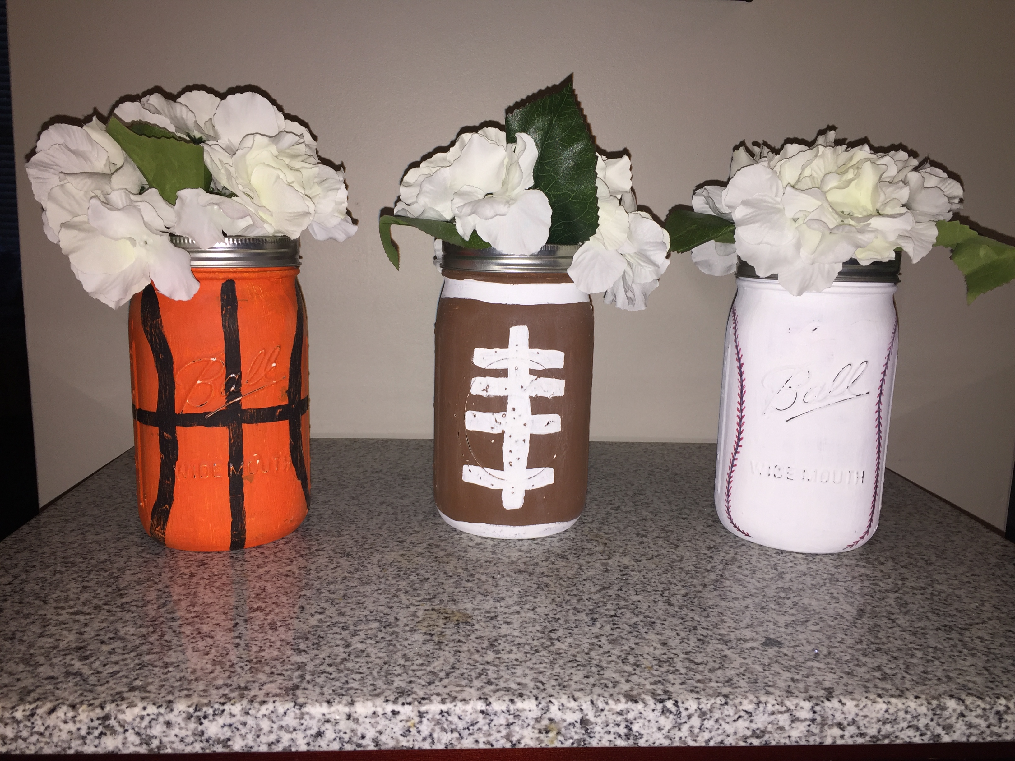 Hand painted center pieces
