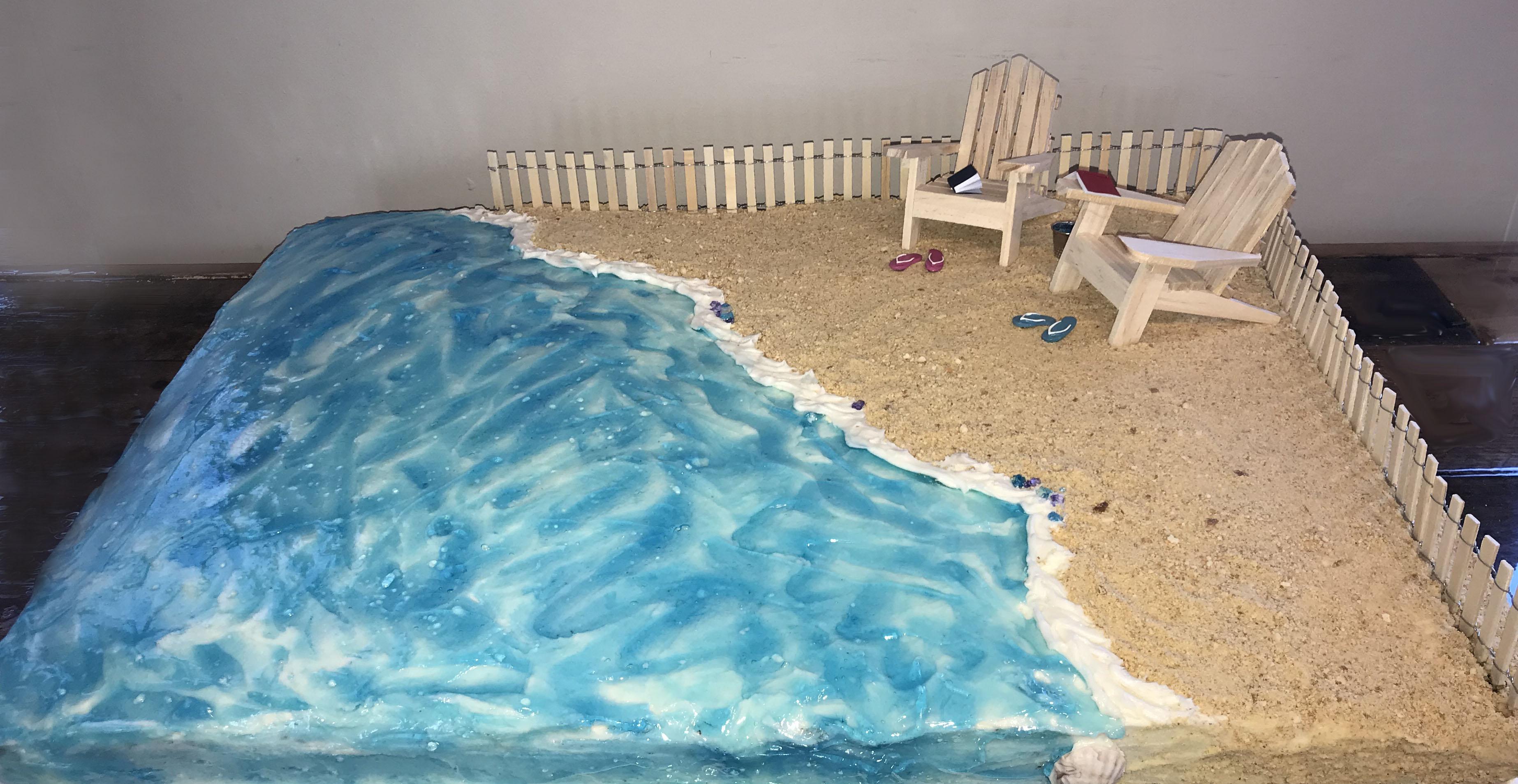 Full Sheet Beach Cake
