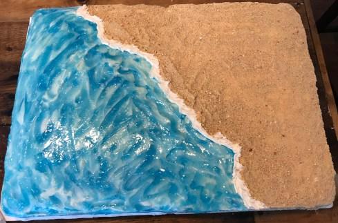 Plain beach cake