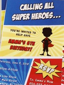 Super Hero Invitation