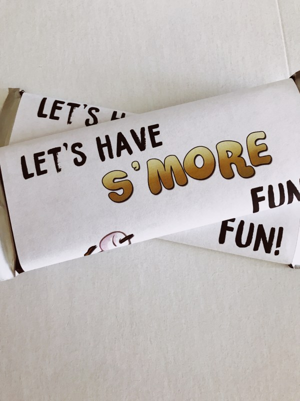 Camping Candy Bar Wrapper