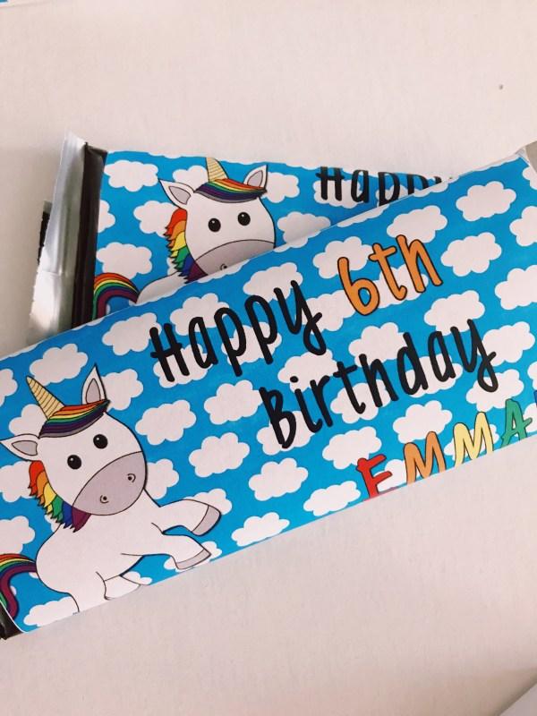 Unicorn Candy Bar Wrapper