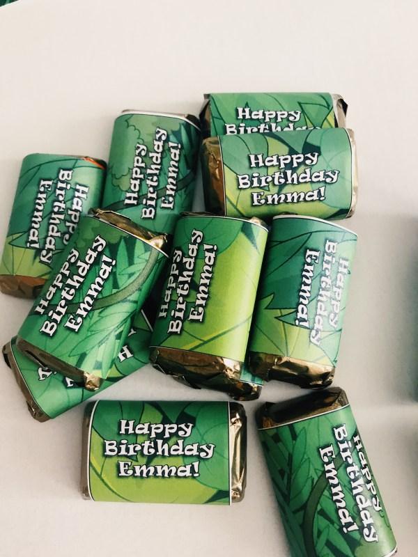 Jungle Mini Candy Bar Wrapper