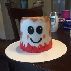 Marshmallow Smash Cake