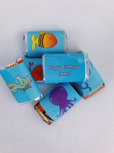 Under the Sea mini candy bar wrapper
