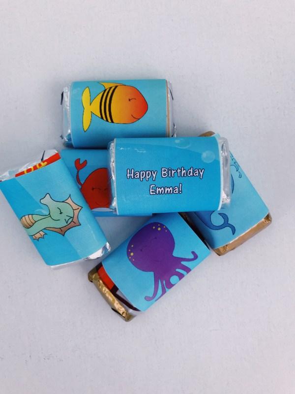 Under the Sea mini candy bar wrapper