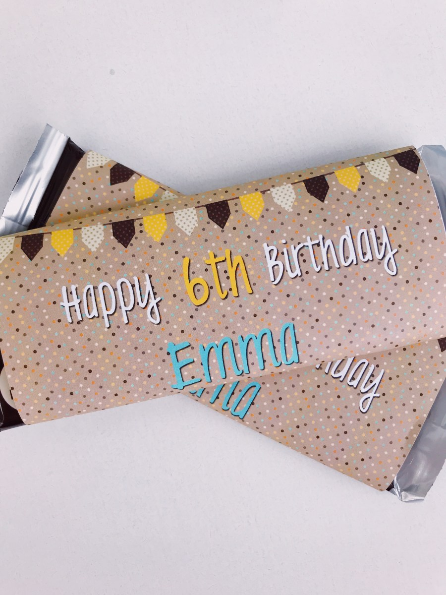 personalized large candy bar wrapper