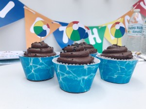 Pool Birthday Party Cupcake Wrappers
