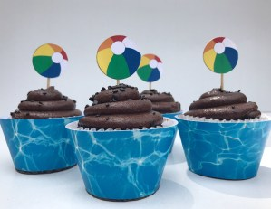 Pool Party Cupcake Wrappers