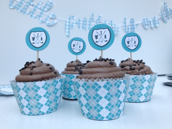 Golf Baby Shower Cupcakes