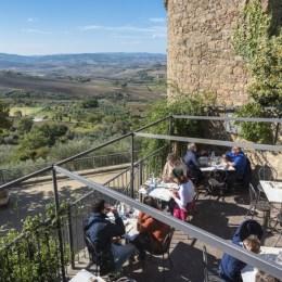 Terrace at Osteria La Porta, Monticchiello