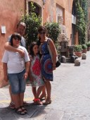 """Arriving at our beautiful accommodation in Rome """"Margutta 54"""""""