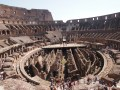 A view of the Colosseum from the inside..