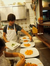 Thomas plating up - Il Ritrovo Cooking School Positano
