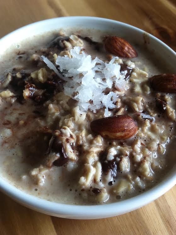Healthy Chocolate Coconut Oatmeal