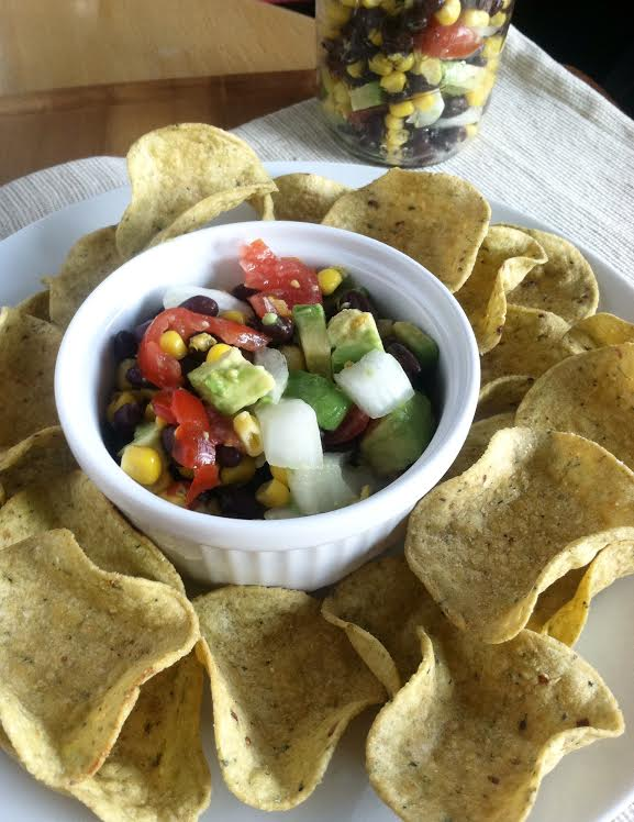 chunky healthy vegan chip dip