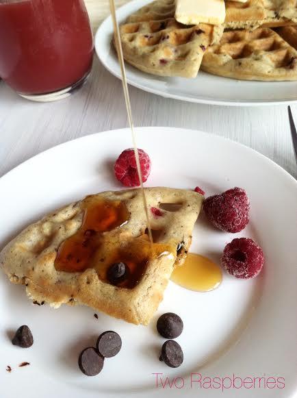 Chocolate Raspberry Waffles