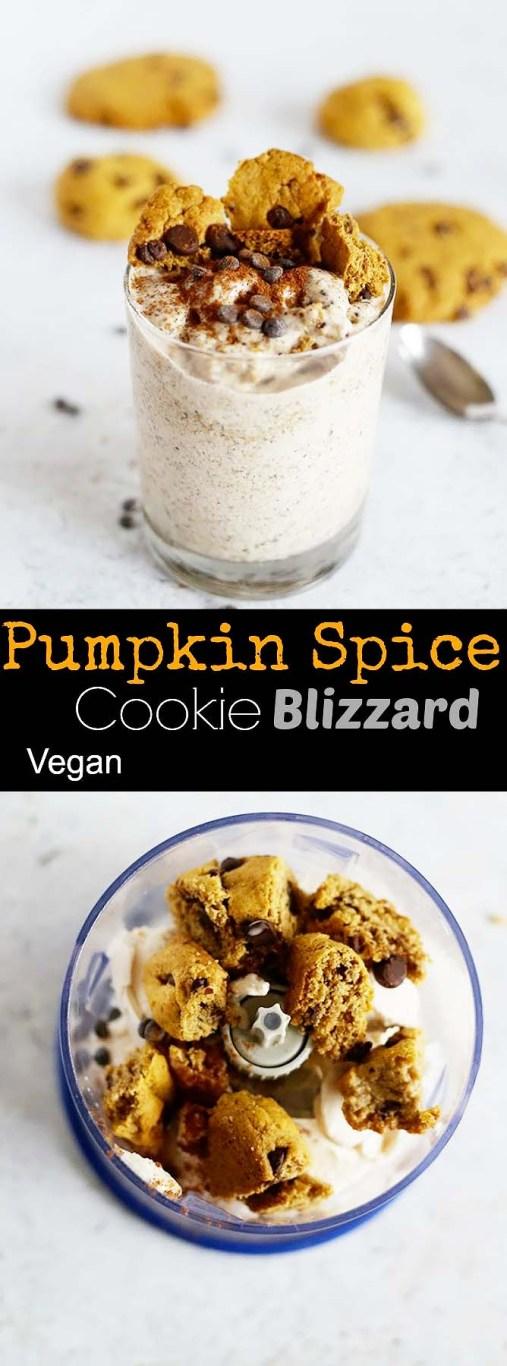 Pumpkin Spice Cookie Blizzard