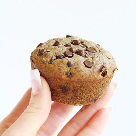 Healthy Vegan Chocolate Chip Banana Muffins