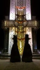 At the Holodomor Memorial, night -- stunning