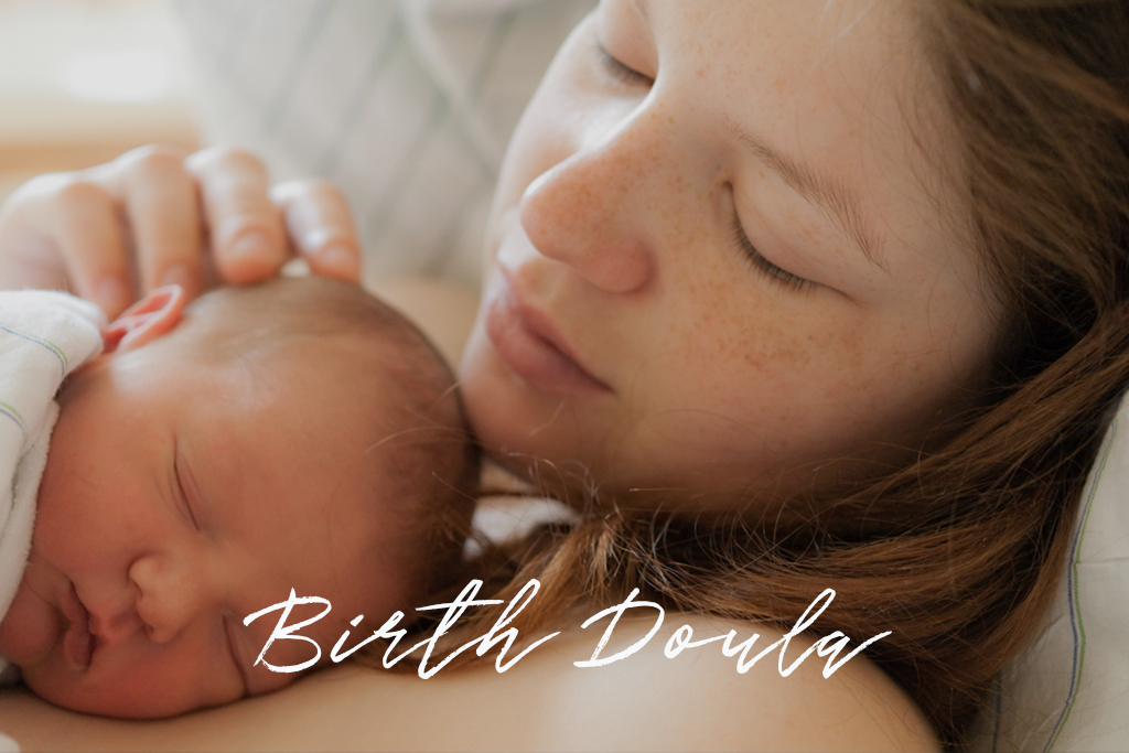 Mother and newborn baby resting, Birth Doula