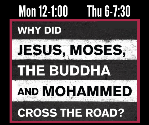 Why did Jesus, Moses, the Budha, and Mohamed cross the road-