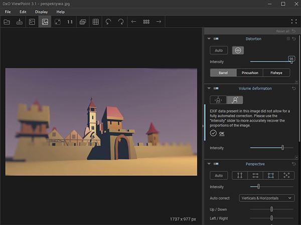 pogram DXO ViewPoint3 przykład działania
