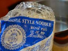 We use rice noodles because they soften without needing to be cooked....