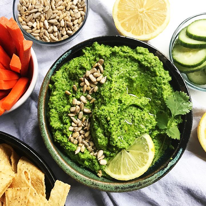 4-Ingredient Easy Peasy Green Dip