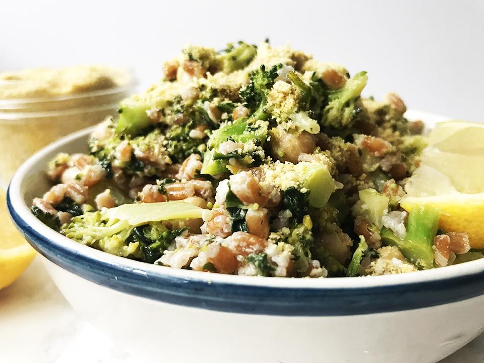 Broccoli Lemon Farro Salad