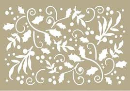 "Couture Creations 4 x 6"" Stencil - Holly Flourish"