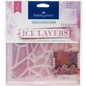 Faber-Castell Adhesive Textures Stencil - ICE LAYERS GEODE Stencil