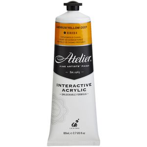 Atelier Interactive Artists Acrylic Paint 80ml-CADMIUM YELLOW DEEP Series 4