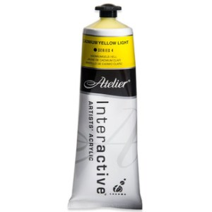 Atelier Interactive Artists Acrylic Paint 80ml-CADMIUM YELLOW LIGHT Series 4