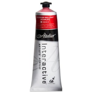 Atelier Interactive Artists Acrylic Paint 80ml- CADMIUM RED LIGHT Series 4