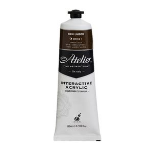 Atelier Interactive Artists Acrylic Paint 80ml- RAW UMBER Series 1