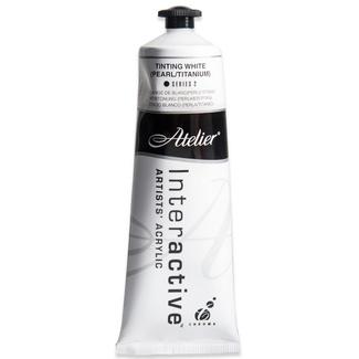 Atelier Interactive Artists Acrylic Paint 80ml - TINTING WHITE (PEARL/TITANIUM) Series 2