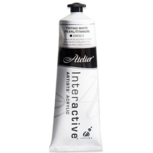 Atelier Interactive Artists Acrylic Paint 80ml - TINTING WHITE (PEARL/TITANIUM) Series 2